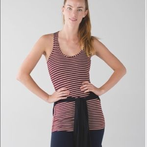 Lululemon CRB Racerback West2east Stripe Size 4